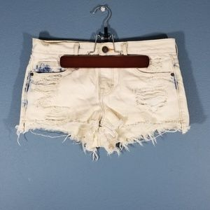 Abercrombie & Fitch distressed denim jean shorts